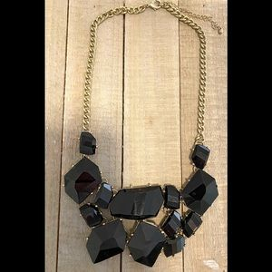 Francesca's black and gold stone necklace
